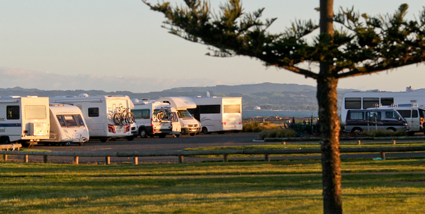 The southern end of Napier's Marine Parade is a popular spot for freedom campers whose behaviour is under scrutiny in the lead up to summer. Photo / Warren Buckland