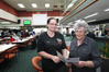 REACHING THE BIG ONE: Napier RSA assitant club manager Dorothy Paki with restaurant manager Bev Russell who are getting ready to celebrate 100 years. PHOTO/DuncanBrown