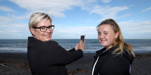 Loading Jane Tarrant and daughter Niamh Muldowney had more than 100 Facebook shares of an orca video Jane shot at Mahia at the weekend. Photo / Duncan Brown