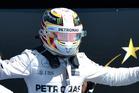Lewis Hamilton celebrates GP win number 50. PHOTO/DON KENNEDY