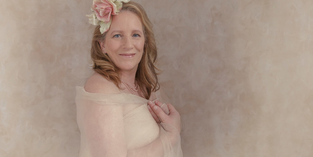 Jackie Howe says the calendar focuses on a positive side of living with or after breast cancer. Photo/Sarahlee Cobb