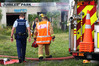 SHED FIRE: Whangarei Police and Fire Brigade will investigate the latest arson hit at Jubilee Park. Photo/Tania Whyte.