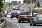 Holiday traffic leaving Whangarei on Labour Weekend Monday. Photo/Tania Whyte
