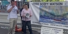 Watch: Watch: Scott Watson supporters protest