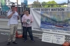 A group of Scott Watson supporters today began a series of marches between Christchurch and Picton to highlight their case that he is wrongly imprisoned for the Marlborough Sounds murders.