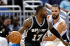 San Antonio Spurs' Jonathon Simmons in action against the Orlando Magic. Photo / AP
