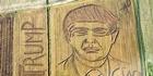 Watch: Watch: Giant portrait of Trump appears in cornfield