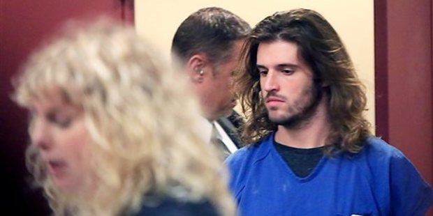 Suspended University of Wisconsin-Madison student Alec Cook appears in court after being charged with multiple counts of sexual assault. Photo / AP