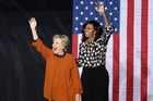 Michelle Obama, right, is supporting Hillary Clinton to be the US's first woman president. Photo / AP