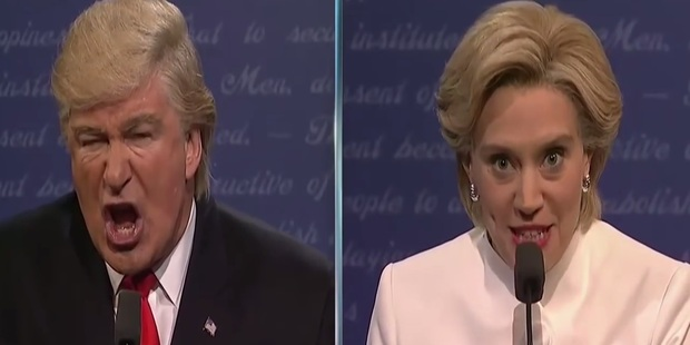 Loading Alec Baldwin and Kate McKinnon go head-to-head a final time in their Saturday Night Live comedy sketch.