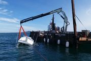 The sunken boat was recovered and taken to Gulf Harbour.