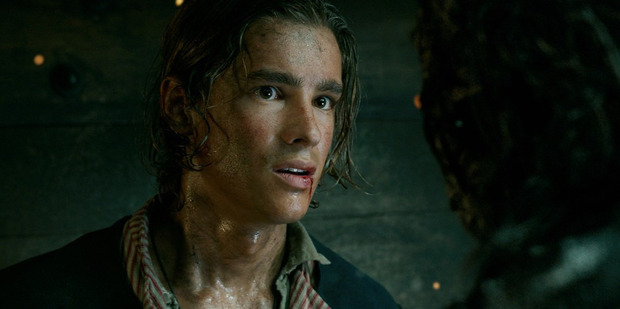 Actor Brenton Thwaites in a scene from the upcoming Pirates of the Caribbean movie.