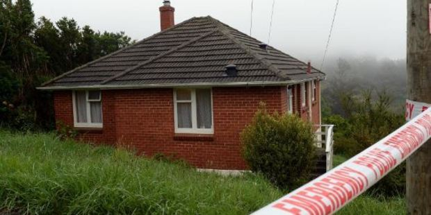 The house in Brockville has been cordoned off by police. Photo / Otago Daily Times