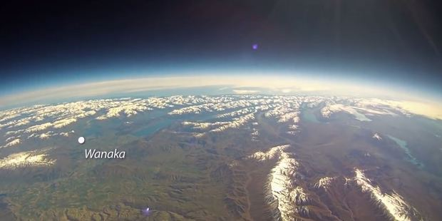 Loading The footage shows Central Otago from the edge of space.