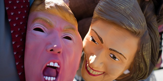 Donald Trump and Hillary Clinton masks owned by Ben and Melissa Arnold, of Marietta, Ohio. Photos / The Washington Post