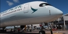 Watch: Watch: Cathay Pacific A350 lands at Auckland Airport for first time