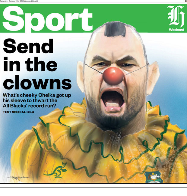 The front page that caused much consternation for Michael Cheika