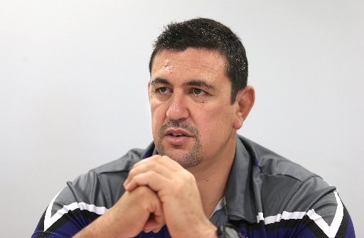 FRUSTRATED: Steamers coach Clayton McMillan
