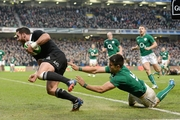 Ryan Crotty snatched a last-gasp try for the All Blacks to break Irish hearts at Lansdowne Road in 2013. Picture / Getty Images