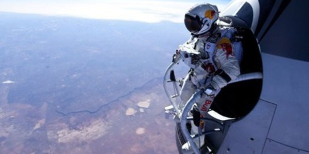 The Red Bull Stratos jump in 2012. Photo / Red Bull