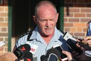 Gavin Fuller was clearly shaken when he faced media two hours after the Dreamworld incident.