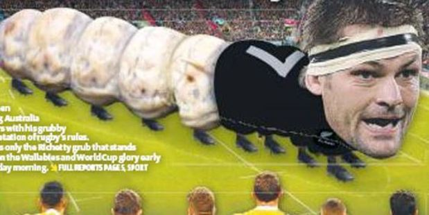 The front page of Sydney's Daily Telegraph declared war on McCaw.