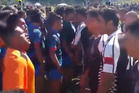 Tuhoe and Waikato sides go face to face at New Zealand Māori Rugby League Nationals. Photo YouTube