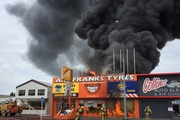 Firefighters are on the scene in Angelsea Street. Photo / Belinda Feek