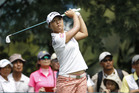 Lydia Ko of New Zealand follows her shot on the seventh hole during the first round of the LPGA golf tournament at Tournament Players Club. Photo / AP