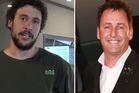 Jordan Watson and Mike Hosking. Photos / Facebook, Herald on Sunday