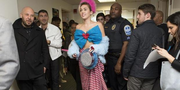 Miley Cyrus is a Clinton supporter. Photo / AP