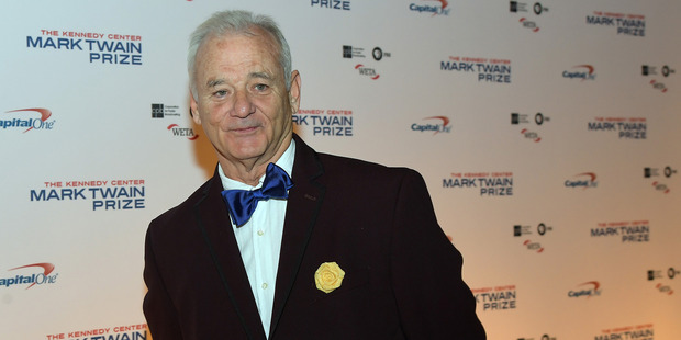 Bill Murray appears on the red carpet at the 19th annual the Kennedy Center's Mark Twain prize for American humor awarded this year to him. Photo / The Washington Post