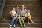 Charles with his wife, Vanessa, and their sons Emmett, left, and Noah. Photo / David Andrews.