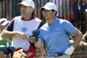 Rory McIlroy of Northern Ireland, right, and his caddy, J. P. Fitzgerald. photo / AP
