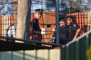 Police and investigators at Dreamworld. Photo / Getty Images