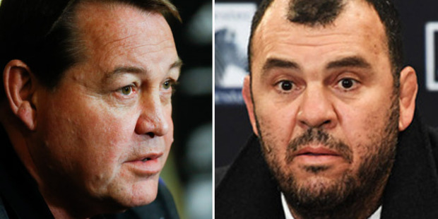 Loading Steve Hansen (left) says Michael Cheika needs to stop whining. Photo: Getty / Photosport