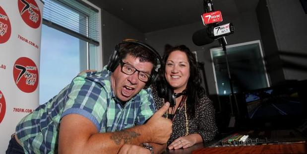 Mick Newell and Anna Dare in the studio together. Photo / Luke Bowden, News Corp Australia