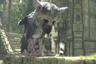 A scene from the video game The Last Guardian.