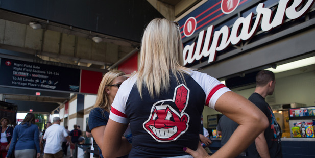 A fan waits in line for concessions at Progressive Field on July 26 in Cleveland. Photo / The Washington Post by Dustin Franz.