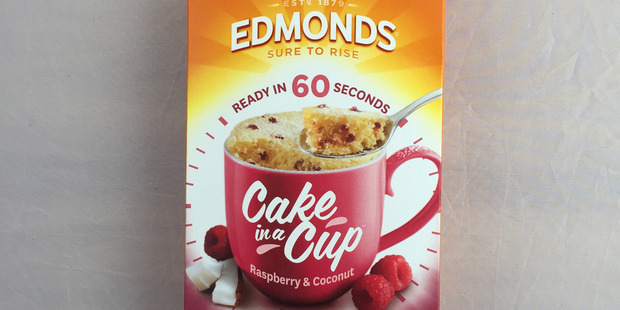 Edmonds Cake in a Cup Raspberry and Coconut. Photo / Supplied