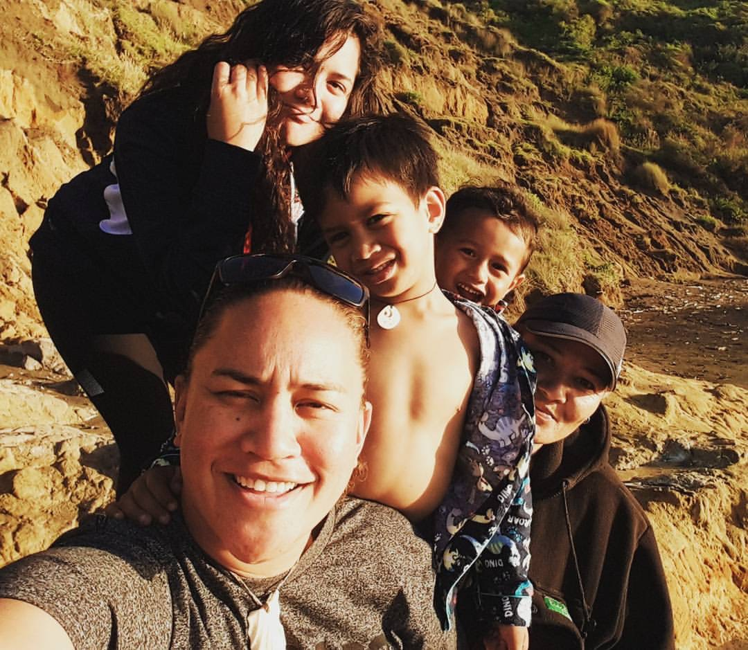 Vicki Letele with her children and partner. Photo / Supplied