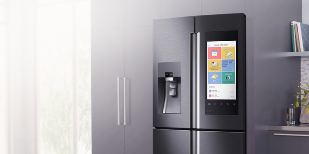 The Samsung Family Hub Refrigerator, which made the list, allows people to check what's in the fridge before they get home. Photo / Samsung