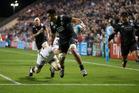 Maori All Black Akira Ioane runs in a try against the USA Eagles. Photo / Brett Phibbs