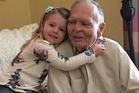 Four-year-old Norah gives widower Dan Peterson, 82, a new outlook on life. Photo / Tara Wood Facebook
