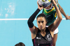 Maria Tutaia looks to shoot against South Africa in the Fast5 Series in Melbourne. Photo / Photosport