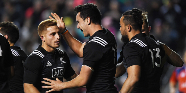 Loading The Maori All Blacks won a predictable result in Chicago this afternoon, thumping the USA Eagles 54 points to 7. Photo / Photosport