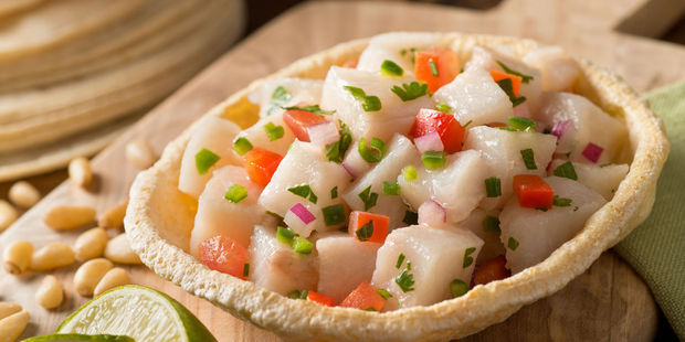 When you're in Peru, be sure to rave about the ceviche. Photo / 123RF