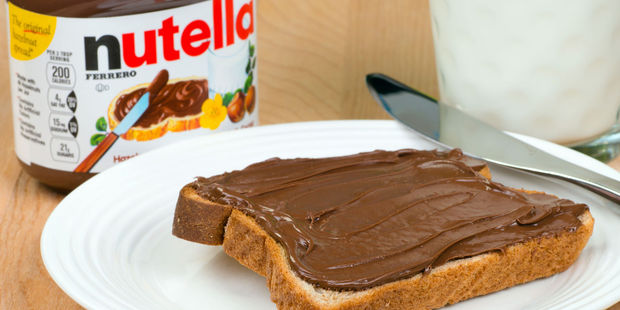 Nutella are putting forward the case that the hazelnut treat is more a morning spread rather than a dessert. Photo / 123rf