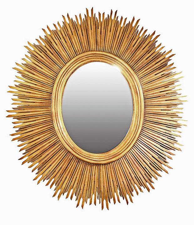 Oval sun mirror $1438 through CC Interiors.