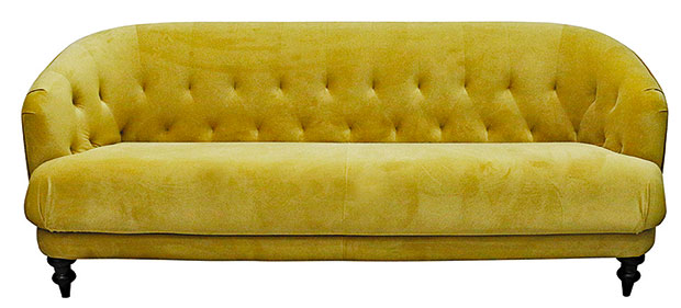 Velvet Venezia couch, $1829 from Leopold Hall.